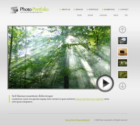 Nature Forest HTML Template Art Photography Website - Free html photography website templates