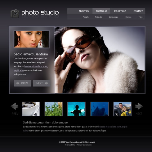 Photography Website Template. photo review xhtml template 6000 art ...