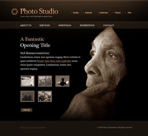 Photo Slides Website Template - 5498 - Art & Photography - Website ...