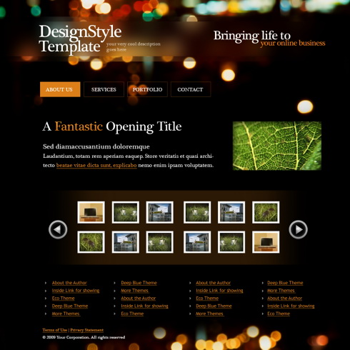 Classic Style Webpage Template - 5583