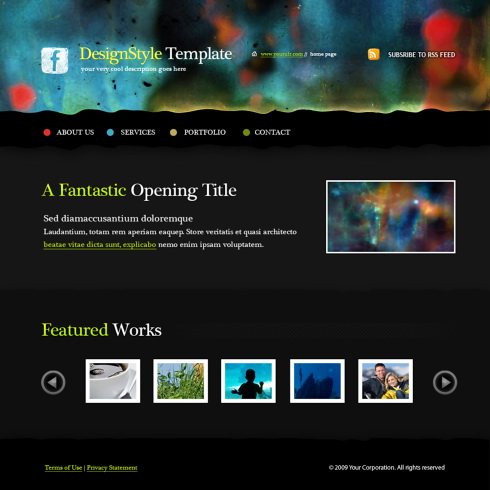 Social Network Web Template - 5588 - Art & Photography - Website ...