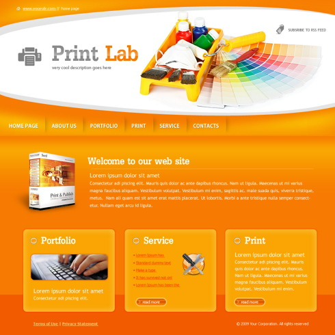 Print Lab Website Template 6028 Art Photography Website