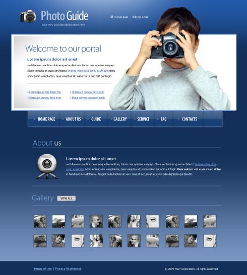 Photo Cafe Webpage Template Art Photography Website - Online art gallery website template