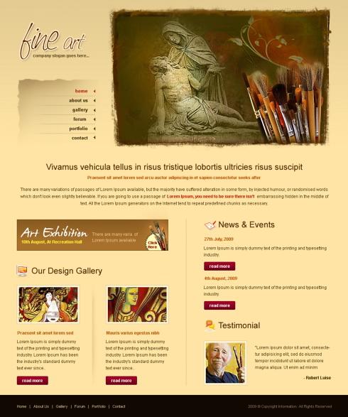 20 beautiful portfolio website templates for artists.