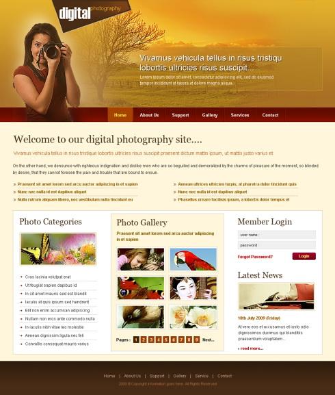 Digital print html template 6214 art photography website digital print html template 6214 maxwellsz