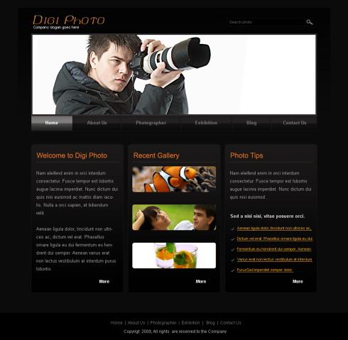 camera art xhtml template 6215 art photography website