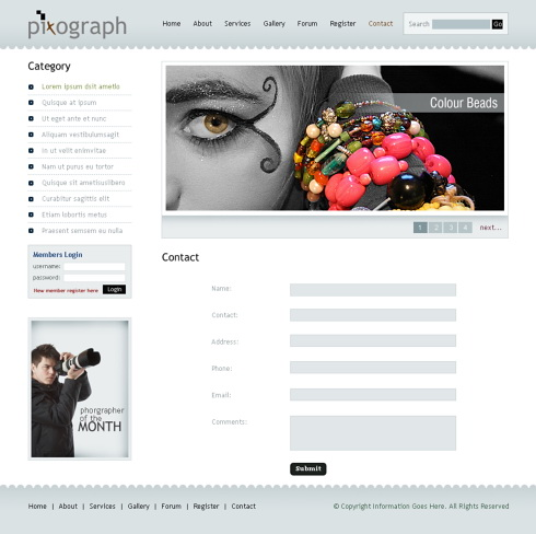 Photograph Studio Webpage Template Art Photography - Photo studio website template