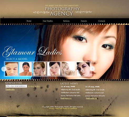 Photography Website Design Ideas Beauty Designs CSS Template 0971 Art Photography