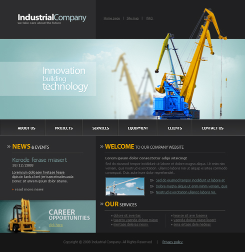 3444 flash industrial history flash templates dreamtemplate