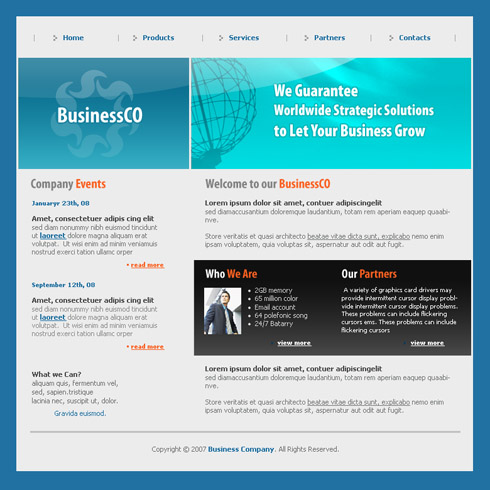 TeleCommunications Website Template - 3050 - Communications ...