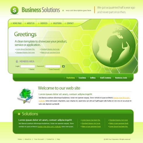 Green Html Templates Green Globe CSS Template - 6012 - Communications - Website Templates - DreamTemplate