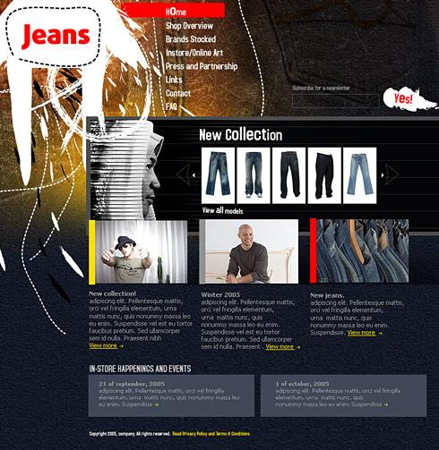 Jeans Webpage Template - 0374 - Beauty & Fashion - Website ...