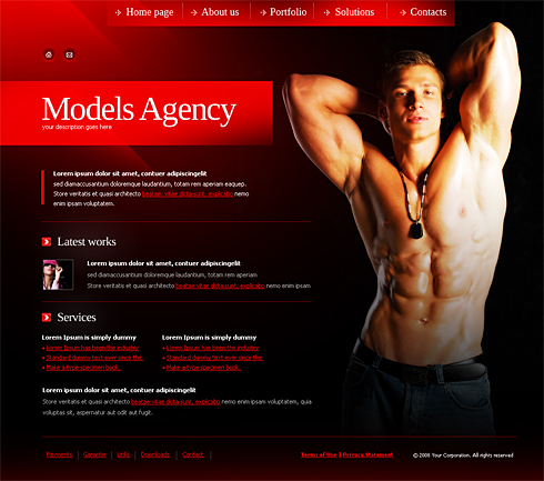 Fitness Web Template - 4194 - Beauty & Fashion - Website Templates ...