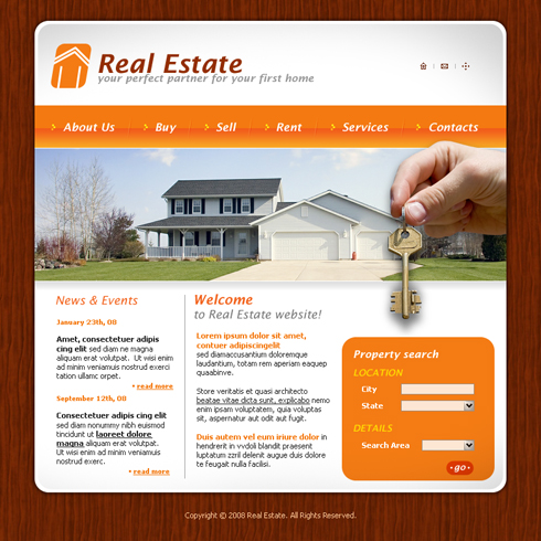 3618 real estate building website templates dreamtemplate 3618 templates website templates real estate pronofoot35fo Image collections