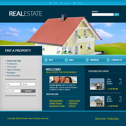 3674 - Real Estate & Building - Website Templates - DreamTemplate